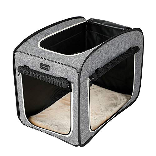 """Petsfit Portable Pop Open Cat Kennel,Cat Cage,Dog Kennel,Cat Play Cube,Lightweight Pet Kennel 27"""" Lx18 Wx22 H(Type A)"""