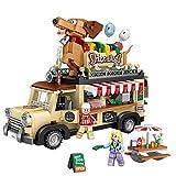 JYING Mini Bloques de construcción, 1317 Piezas Mini City Hot Dog Carrito Ladrillos Estatuilla de Coche Modelo Bloques de construcción Vehículo Juguetes educativos para niños Regalos