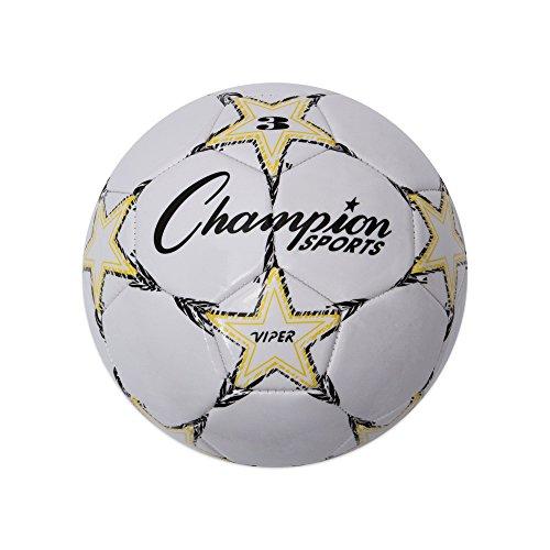 Champion Sports Viper Soccer Ball, Size 3 Yellow/Black/White