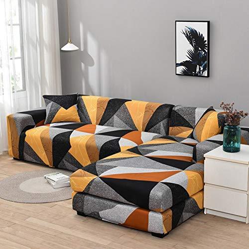 WXQY Funda de sofá de Esquina Funda de sofá elástica para Sala de Estar, Funda de sillón sofá sombreado sofá Todo Incluido Funda de sofá A24 1 Plaza