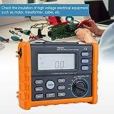 Medidor de Resistencia Digital PM5203 1000V Aislamiento Megohm Probador Resistencia Megger AC/DCProbador de Voltaje con Pantalla LCD Retroiluminada
