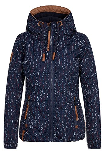 Naketano Damen 36 DDs Jacke, Blau (Dashes II), Gr. S