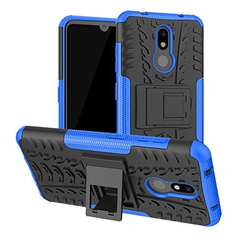 LFDZ Nokia 3.2 2019 Hülle, Abdeckung Cover schutzhülle Tough Strong Rugged Shock Proof Heavy Duty Hülle Für Nokia 3.2 2019 Smartphone(Not fit Nokia 3.1),Blau