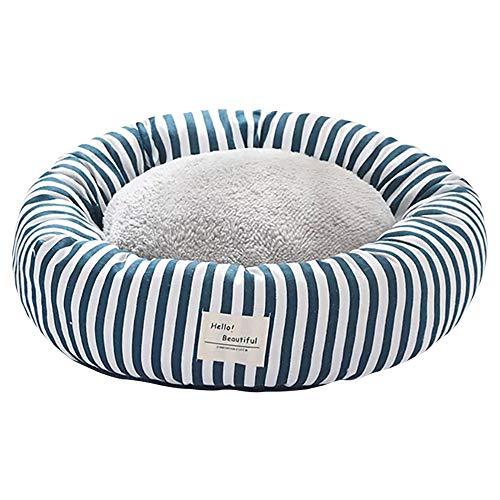 thematys Hunde-Bett mit wendbarem Kissen I Katzen-Bett I Kuschelbett Weich I Hundekissen I Hundekorb in 2 verschiedenen Größen und 8 Farben (M (50 x 20 cm), Style 3)