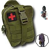Trousse de Secours Tactique Molle kit Complet 103 pcs,Compact,Made in France Se Fixe à la...