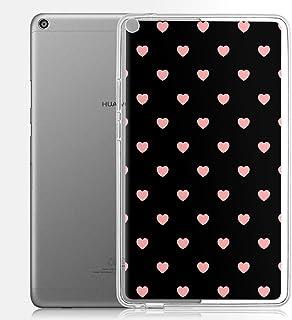 Yoedge Huawei Mediapad T3 8.0 Tablet Case, Translucent Personalised Print Patterned Protective Case Ultra Slim Shockproof ...