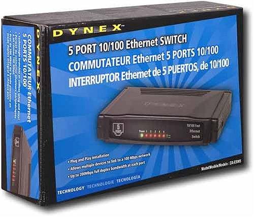 Dynex DX-ESW5 - Switch - 5 x 10/100 - desktop