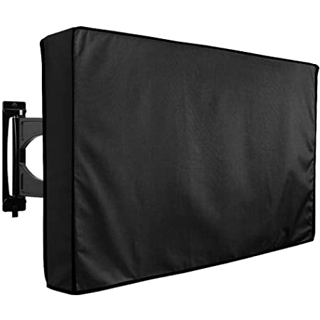 Outdoor Waterproof TV Cover 52 to 55 inches with Bottom Cover, Heavy Duty, Thick Fabric, Weatherproof Outdoor TV Enclosure for Outside TV
