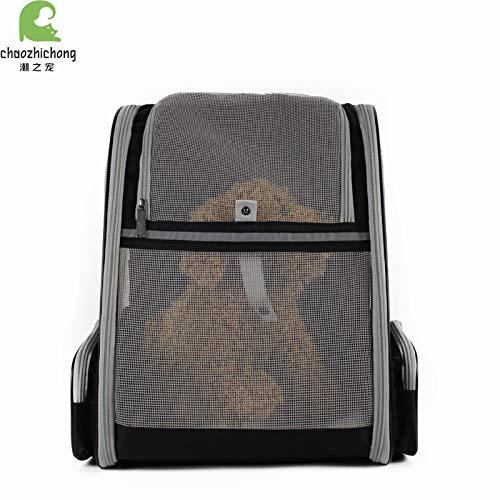 Yiqing Sac à Dos pour Animal de Compagnie Portable Pliable et Respirant pour Chien,Gray