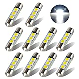 wdtecker 1036mm 5050LED festón interior iluminación de matrícula lámpara kofferraumbeleuchtung 3W 195LM 6000K Xenon Blanco