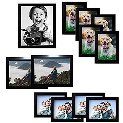 Marcos de Fotos 12pcs - Marcos de Foto Madera Negra 1x(20x25cm), 2x(15x20cm),...
