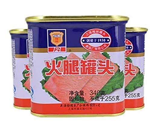 梅林火腿罐頭 火腿罐? ランチョンミート 味付け豚肉 340g