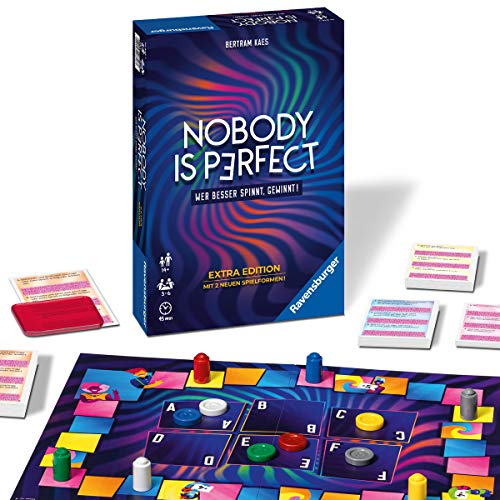 Ravensburger 26846 - Nobody is perfect Extra Edition - Kommunikatives Kartenspiel für die ganze Familie, Spiel für Erwachsene und Jugendliche ab 14 Jahren, für 3-6 Spieler
