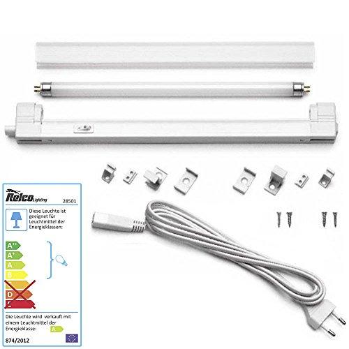 Relco Kleinstlichtleiste mit Schalter Classica 13 Watt T5 inkl Leuchtmittel warmweiss 3000K 830