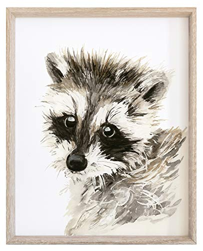 Child's Bedroom Decoration Watercolor Raccoon Print Woodland Animals Wall Art for Kids Room NOT FRAMED