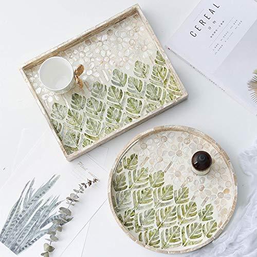 Bandeja Decorativa Placa creativa hecha a mano del color del panecillo de frutas Decoración del ornamento de la bandeja de cocina Mesa de café decoración del hogar Placa del desayuno para Vanity Dress