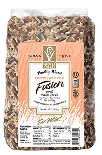 Goose Valley Brown & Wild Rice Fusion, 5 lb, 2.27 kg (Pack of 1)