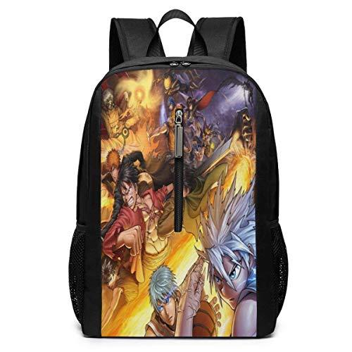 Dragon Ball Z Conan Death Note Vollzeit Hunter 17-Zoll-Schultasche Rucksack College-Tasche Laptop-Rucksack mit großer Kapazität Rucksack (schwarz)
