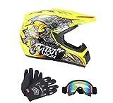 Senhill DOT Motocross Helmet Unisex...
