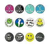 GOLTERS Golfball-Marker verschiedene Muster Vorteilspackung