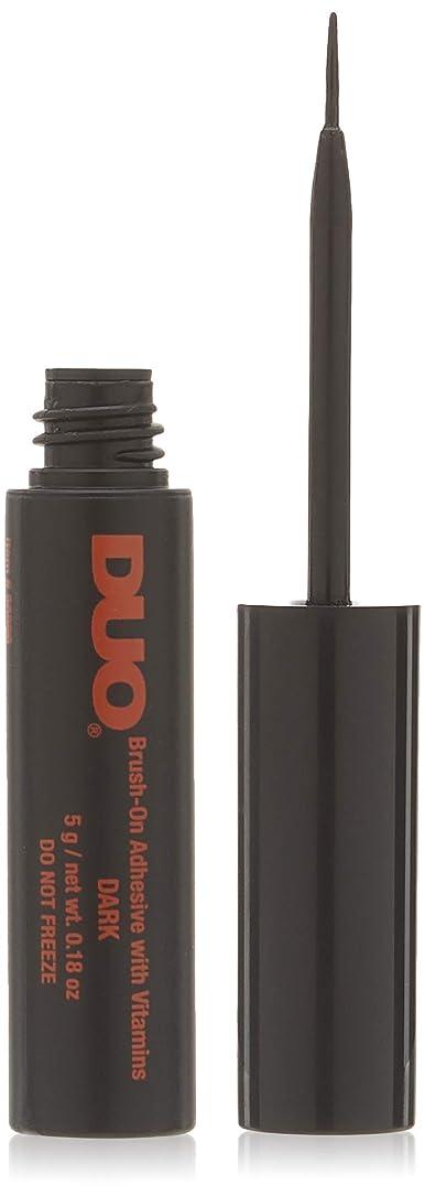 改善する鯨アジア人DUO Brush On Striplash Adhesive Dark Tone (並行輸入品)