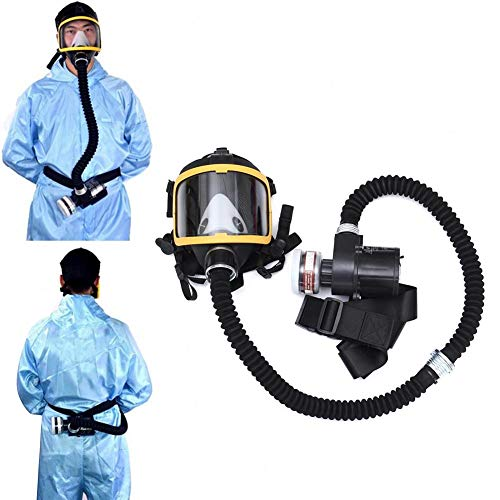 Harwls Electric Supplied Air Fed Full Face Gas Mask Constant Flow Respirator System Device
