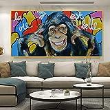 AJleil Puzzle 1000 Piezas Graffiti Divertido Mono Arte Pintura Animal Arte Pintura Pintura Cuadro Puzzle 1000 Piezas Adultos Educativo Divertido Juego Familiar para niños adultos50x75cm(20x30inch)