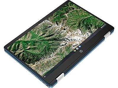 Newest HP X360 Chromebook, 14inch HD 2-in-1 Touchscreen, Intel Celeron N4020 Processor Up to 2.80GHz, 4GB Ram, 64GB SSD, Chrome OS, SDTK 16GB USB Drive (Renewed)