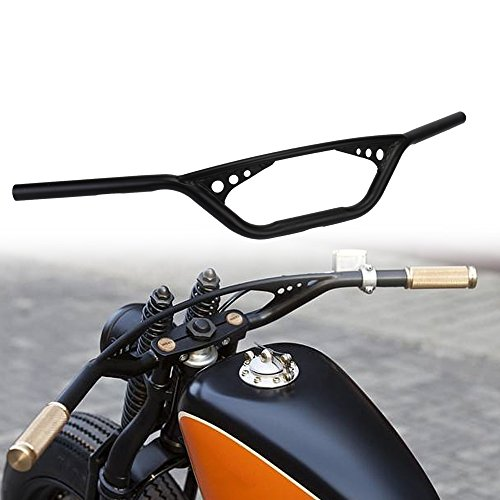 1' Drag Handlebar Z Bars For Harley Sportster Fatboy Dyna Softail V-ROD Cafer Chopper Bobber Custom Street Bob Touring Road King Road Street Glide(Black)