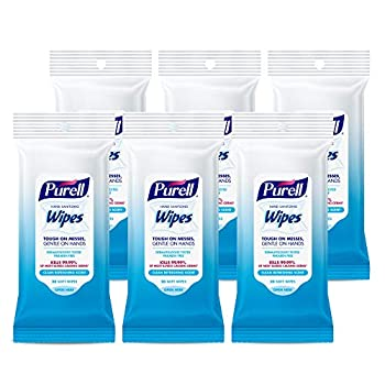 Purell Hand Sanitizing Wipes Clean Refreshing Scent 20 Count Travel Pack  Pack of 6  - 9124-09-EC