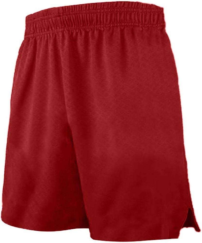 TOPTIE Multi-Sport Athletic Big Boys Basketball Shorts, 7 Inches Pocket Running Shorts