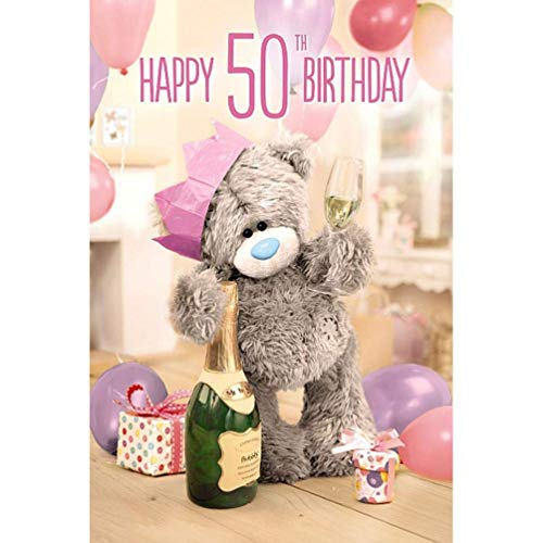 Me to You 3D Lentikular Tatty Teddy Glückwunschkarte zum 50. Geburtstag