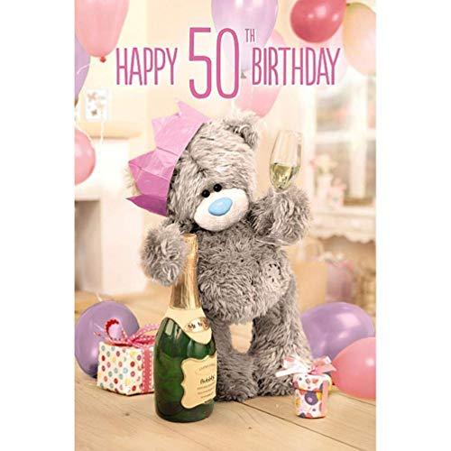 Me to You 3D Lenticular Tatty Teddy 50th Birthday Greetings Card