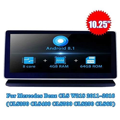 Save %13 Now! 10.25Inch Android 8.1 Car Stereo Radio Video for Benz CLS W218 CLS350 CLS400 CLS500 CL...