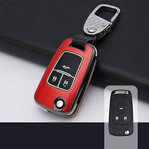 Cubierta De La Llave del Coche Carcasa De 2 Botones para Llave De Control Remoto para Opel Vauxhall Astra Corsa DJ Meriva & Nbsp; Insignia Karl Chevrolet Aveo Cruze 2 Botones Rojo