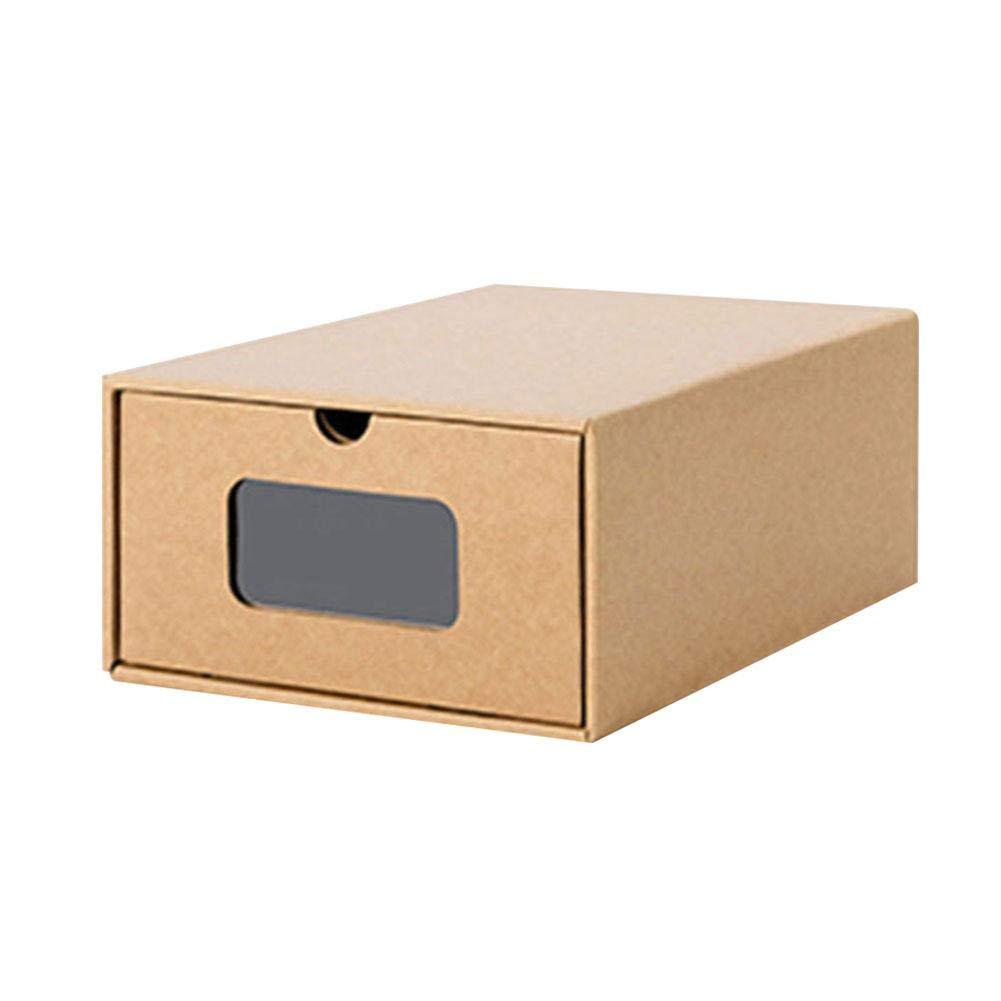 Ritapreaty Cajas de almacenamiento de cartón kraft para zapatos ...