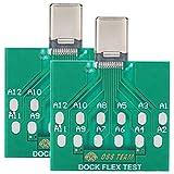 SH-RuiDu 2pcs Dock Test Board USB 5-Pin Puerto de carga de energía de la batería Fácil reparación de prueba para Android Tipo-C Teléfono (1)