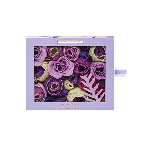 Heathcote & Ivory Lavender Fields Badeblumen in Schiebebox, 85 g