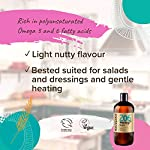 Naissance Cold Pressed Virgin Hemp Seed Oil (no. 206) 500ml - Pure & Natural, Cold Pressed, Vegan and Unrefined - Rich…