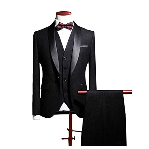 127953364ad7 Botong Blue Shawl Lapel Men Suits 3 Pieces Wedding Suits for Men Groom  Tuxedos