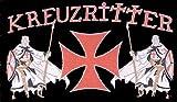 Templer Kreuzritter Fahne / Flagge Größe 1,50x0,90m - FRIP –Versand®