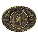 Montana Silversmiths Heritage Outdoor Series Wild Stag Carved Buckle...