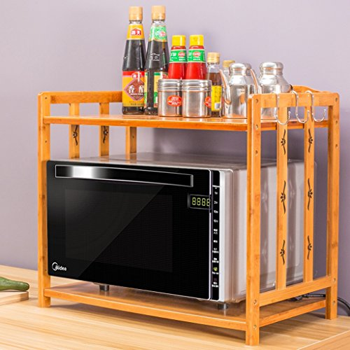 BOBE SHOP- Étagère multifonctionnelle de cuisine - four à micro-ondes de doubles couches étire le plateau de stockage de condiment d'étagères de four de cuisine, taille réglable de plancher ( taille : 80*34*50cm )