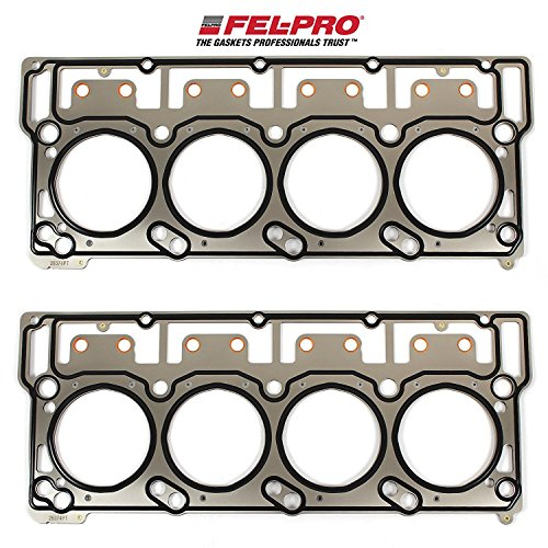Fel-Pro Head Gaskets compatible with 2003-11 Ford 6.0L 6.0 Powerstroke Diesel Turbo Engines with 18mm head dowels (2 Head Gaskets)
