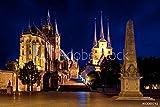 druck-shop24 Wunschmotiv: Erfurt Dom beleuchtet in der