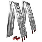 Wiltec 2X Rampe di carico Pieghevoli in Alluminio per Moto e Quad 226cm 680kg