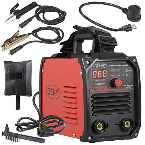 ZENY Arc Welding Machine DC Inverter Handheld Welder MMA 20-160A IGBT 110V/230V Dual Voltage IGBT Stick
