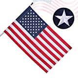 American Flag 3x5 Ft Pole Sleeve Banner Style Made in USA,intbag USA Flags with Embroidered Stars Sewn Stripes,Long Lasting Durable Polyester US Flag for Outdoor Office,Fade Resistant,Bright Color