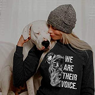 We Are Their Voice Black Pitbull, Dog Dad Mom Gift, Dog Lovers, Pet Hobbyist Shirt, Pet Quotes, Best Gift For Pitbull Owne...