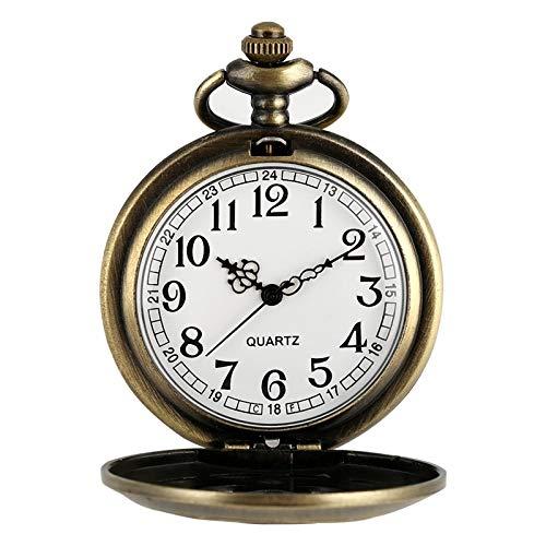 Mechanische antike Taschenuhr Retro Hohlblumenförmige Quarz Taschenuhr Antike Glocken Runde Zifferblatt Halskette Pendeluhr Relojes De Bolsillo